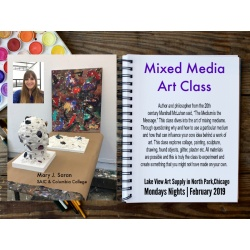 Mixed Media with Mary Saran Mondays in March 6-7:30